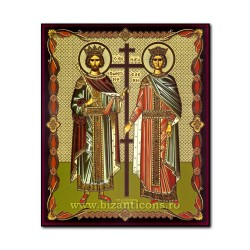 1861-011 the Icon of the Russian fiberboard 20x24 st. St. Konstantin and Elena