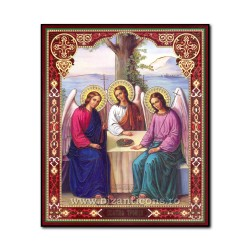 1861-215 the Icon of the Russian fiberboard 20x24 Holy Trinity