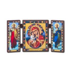 181-610 Триптих дерево 13x7,3-х СД, Розы 11buc/коробка