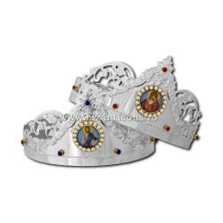 CUNUNII argintate struguri + icoana 24set/bax D 100-203Ag