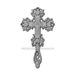 CRUCE Bin. argintata - mica - floral - 23cm D 101-14Ag