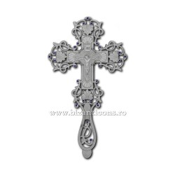 CROSS-wise to do so. silvered - mica - flower - 23cm D-101-14Ag