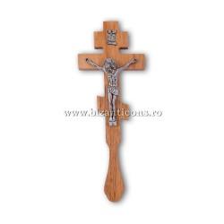 6-65 Кросс Бен. по дереву - Иисус, металл, 70/коробка