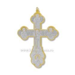 6-163 крестик из металла - установлено золотое изваяние, и argintata стены 21см 60/коробка
