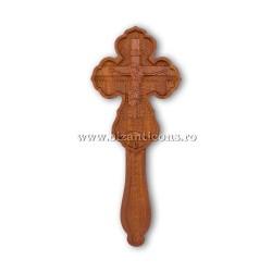 6-360 Cruce Bin. lemn sculptat 2p - medie 18,5 cm