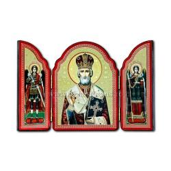 1815-009 ТРИПТИХ дерево 10X14 Святого Николая, 100/box