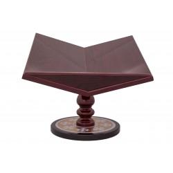 CARD HOLDER wooden-2P - brown-25cm-12/pack D 174-20