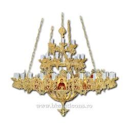 Policandru Horos - bronz aurit - 63 becuri