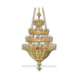 Policandru din bronz - aurit - 60 becuri X91-758 / X 80-531
