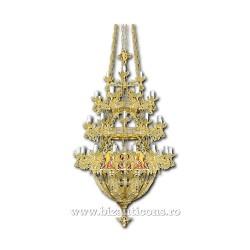 POLICANDRU bronz cu icoane 45 becuri aurit - X91-759 / 80-532