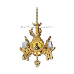 Policandru din bronz - aurit - 4 becuri X93-763 / X 79-522