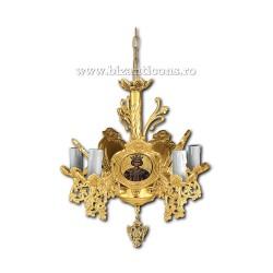 Policandru din bronz - aurit - 5 becuri X93-764 / X 79-523