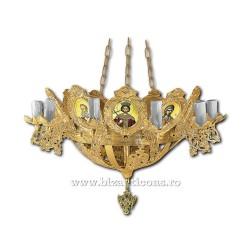 Policandru din bronz - aurit - 13 becuri X93-767 / X 79-526