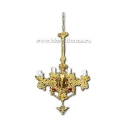 Policandru din bronz - aurit - 9 becuri X93-768 / X 79-527