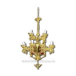 Policandru din bronz - aurit - 13 becuri X93-769 / X 79-528