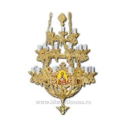 Policandru din bronz - aurit - 31 becuri X93-770 / X 79-529