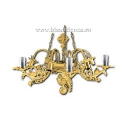 Policandru din bronz - aurit - 12 becuri X94-776 / X 82-536