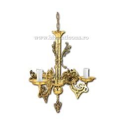 Policandru din bronz - aurit - 3 becuri X94-771 / X 82-540