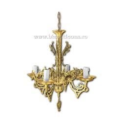 Policandru din bronz - aurit - 4 becuri X94-772 / X 82-541