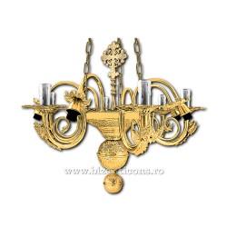 Policandru din bronz - aurit - 12 becuri X94-775 / X 82-542