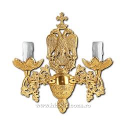 Aplica bronz aurit - 2 becuri X95-781 / X 83-545