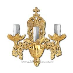Aplica bronz aurit - 3 becuri X95-782 / X 83-546
