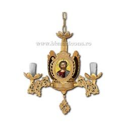 Policandru aliaj aurit Bizantin - cu icoane - 3 becuri - aurit X98-806 / X 87-564