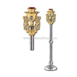 CANDELA imparateasca aurita si argintata med email Biz - X106-879 / 93-636