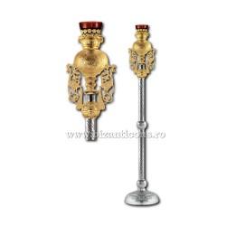 CANDELA imparateasca aurita si argintata - X106-886