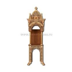 Baldachin pentru Sfinte Moaste sau Icoana - aliaj aurit - pauni - mic X113-943 / X 98-689
