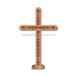 CRUCE biserica cu bec aliaj aurit - X116-963