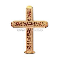 CRUCE biserica cu bec aliaj aurit - X116-964