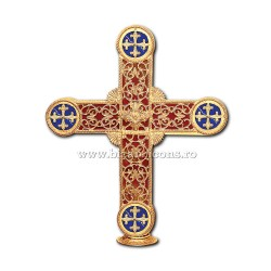 CRUCE biserica cu bec aliaj aurit - X116-965