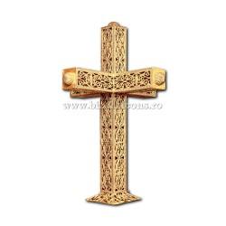 CRUCE biserica cu bec aliaj aurit - X116-967