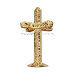 CRUCE biserica cu bec aliaj aurit - X116-968
