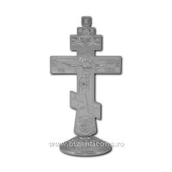 6-48Ag σταυρό, μέταλλο, 12.5 cm βάση 200/χαρτοκιβώτιο