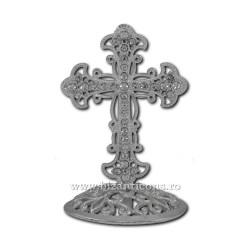 6-121Ag cruce metal argintie + pietre 7cm 120/bax