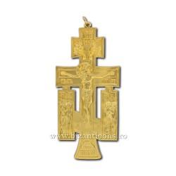 6-140Au крест из металла золотисто - стена; 12 в 100/коробка