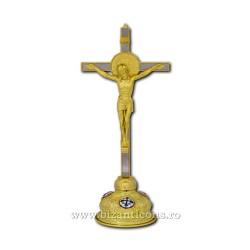 Ο σταυρός από χρυσό και ασήμι 37,5 cm. + με βάση το avg καρφίτσα σμάλτων Δ 101-34