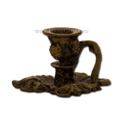 Η 52-151Br κάτοχοι κεριών, μικρά φύλλα, 3χ5,5 cm μετάλλων χαλκού