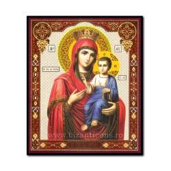 Εικονίδιο πάνω σε ξύλο, Μητέρα του Θεού, Πρώτα - ο Θυρωρός 10x12 cm.