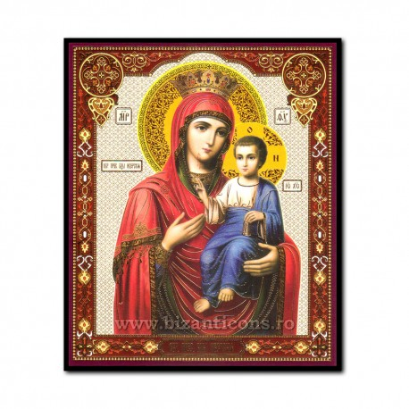 Icon on wood, Mother of God First - the Concierge 10x12 cm.