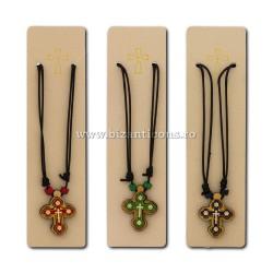24-98 ожерелье, нить + крест, дерево + металл, 12/set