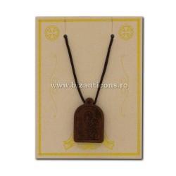 24-132A ожерелье, нить + медальон дерево MD-12/комплект
