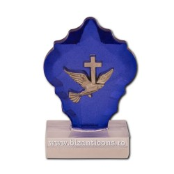 31-47Б crystal голубой - голубь, металл 480/коробка