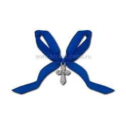 Η 35-6Ab σταυρός βάπτισης - η κορδέλα μπλε, 50/τσάντα