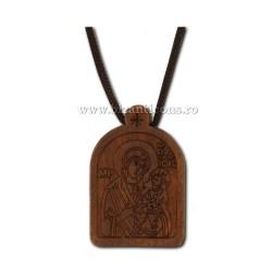 24-132A colier ata + medalion lemn MD 12/set