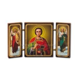 181-023 Триптих дерево 13x7,3-х, Святого Пантелеймона 11buc/коробка