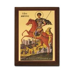 1830-014 Icoana fond auriu 19,5x26,5 - Sf. Dumitru