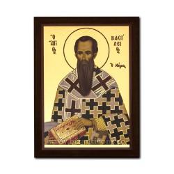 1830-126 Icoana fond auriu 19,5x26,5 - Sf. Vasile